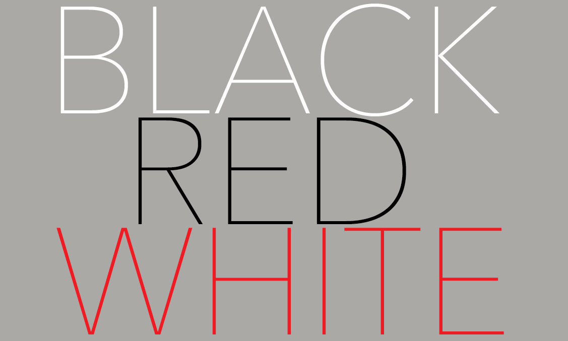 black-red-white